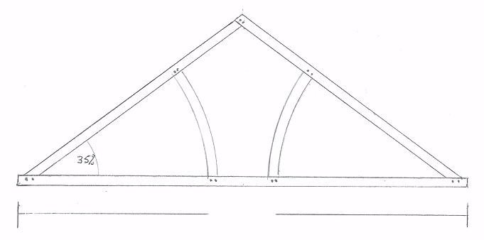 Oak timber roof trusses cheapest prices uk king for Cost of roof trusses