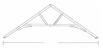 Queen post truss prices uk quality oak framed trusses for Trusses price