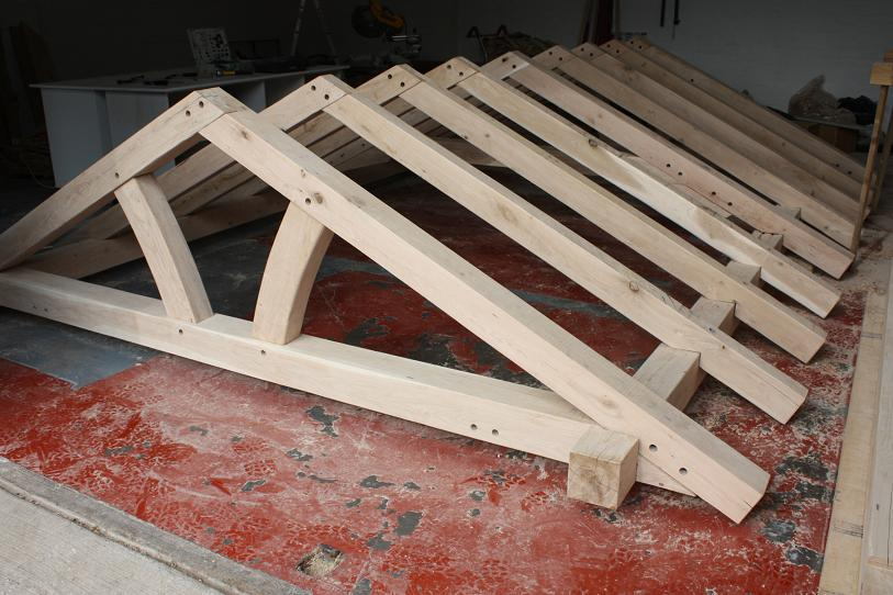 Oak roofs framed roof trusses assembled kits roof for A frame cost