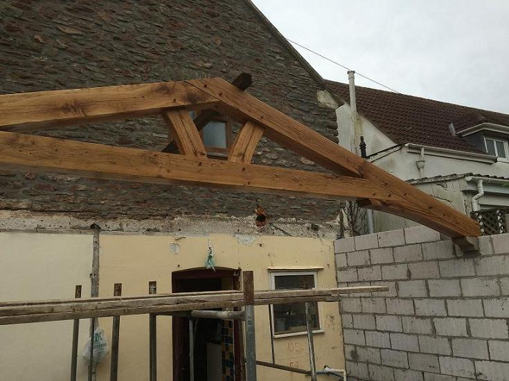 Oak framed king post truss prices uk low cost roof for Roof truss price list