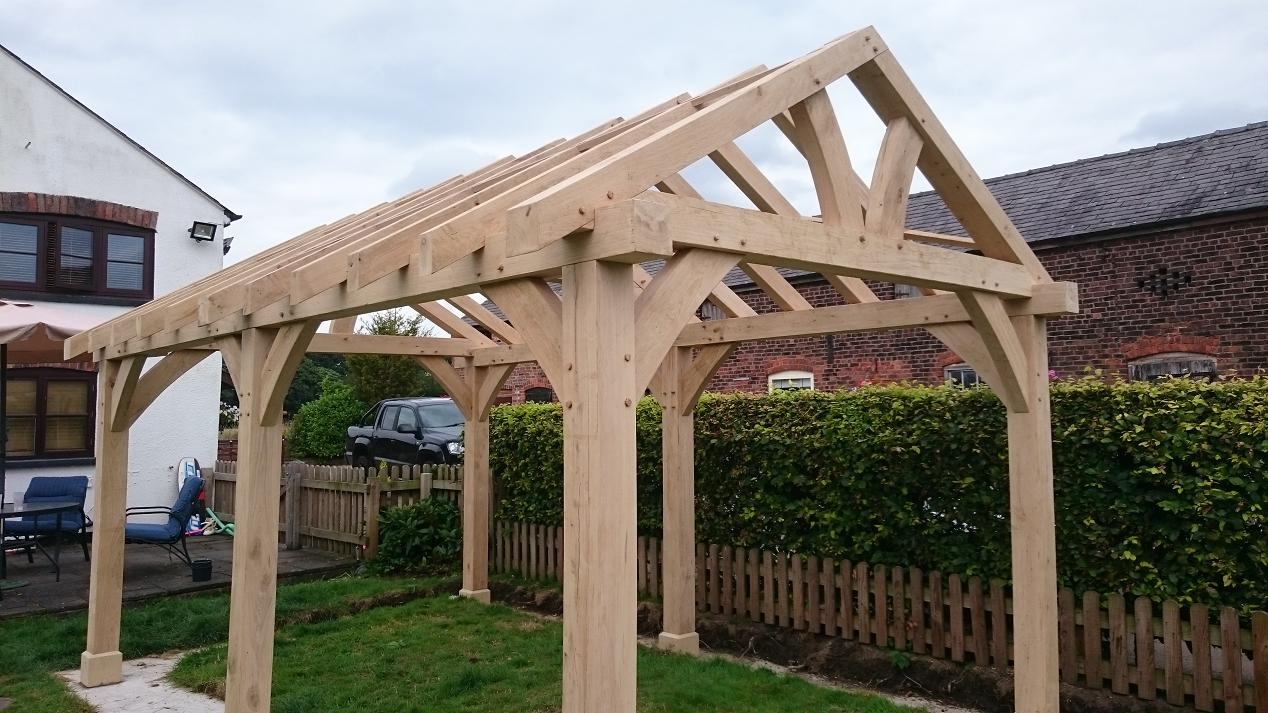 Oak Timber Framing Wood Garden Gazebo