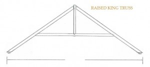 raised king truss