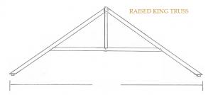 raised king truss