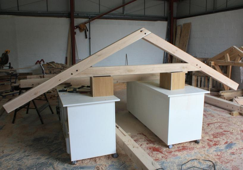 Raised King Amp Queen Truss Prices Uk Oak Roof Trusses