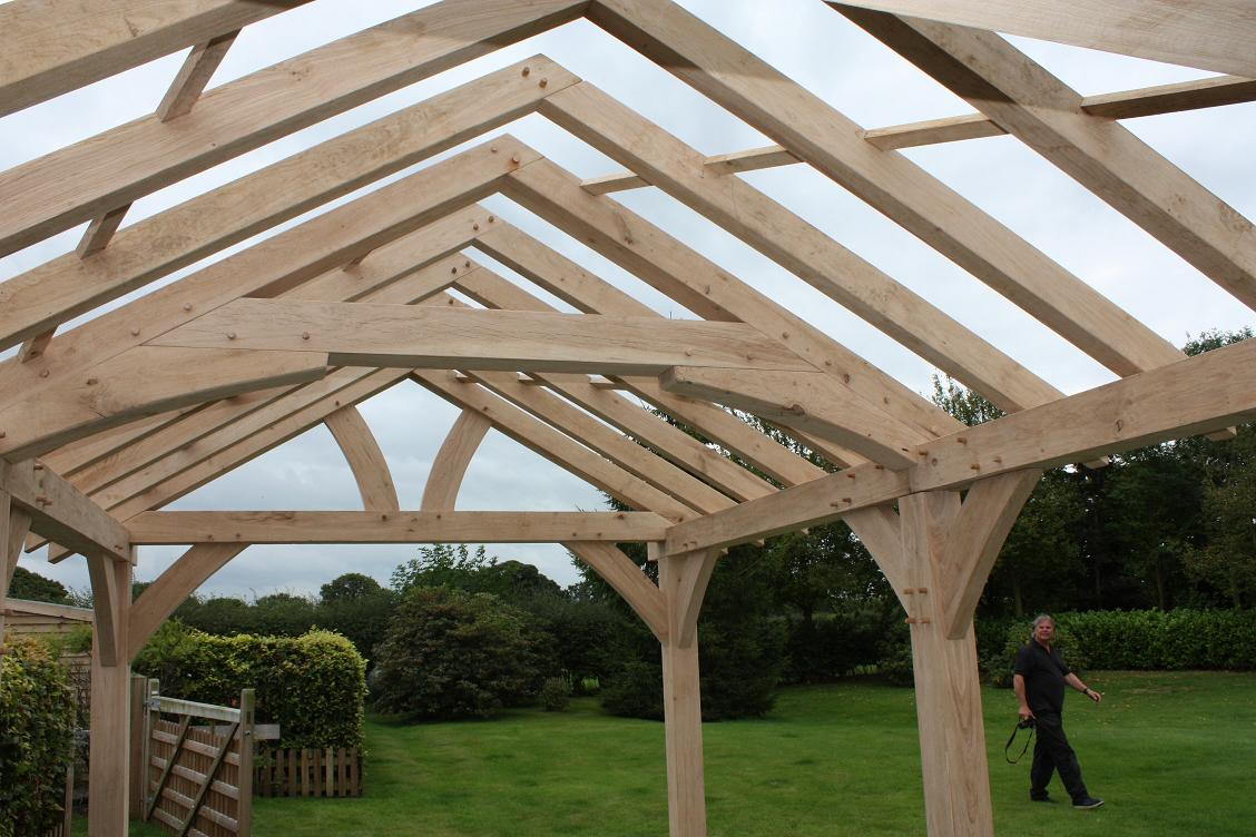 roof trusses made in Oak UK