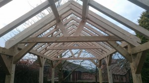3 bay wooden gazebo - car port