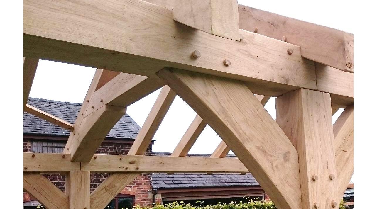 Custom Built Oak frame Gazebo