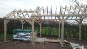 oak frame wooden garden gazebo