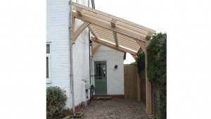 Oak frame carport build