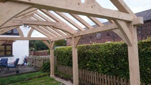 Garden Gazebo built from Oak
