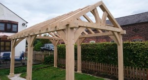 Oak frame garden gazebos