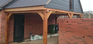 oak framed wooden gazebo