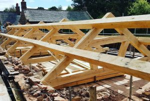 Green Oak Roof Truss UK