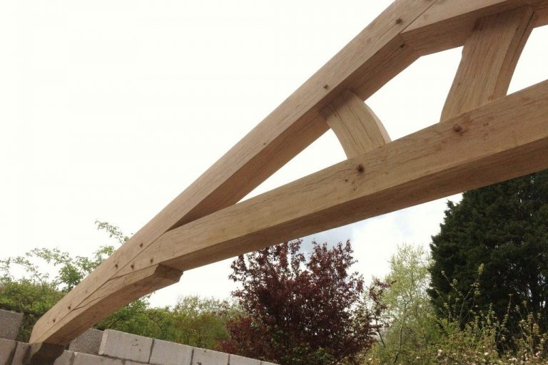 Raised King Post and Queen Oak Trusses